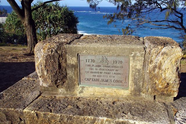 Captain Cook plarke Point Lookout Stradbroke Island