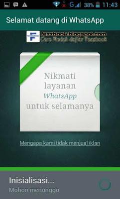 proses membuat akun whatsapp hp android