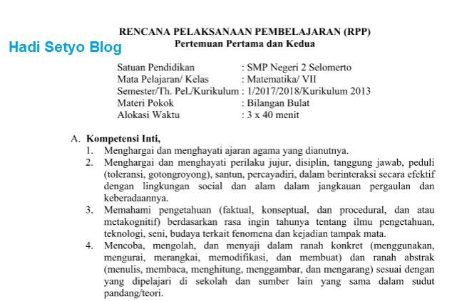 Pedoman Penyusunan RPP Kurikulum 2013 Revisi 2017 img