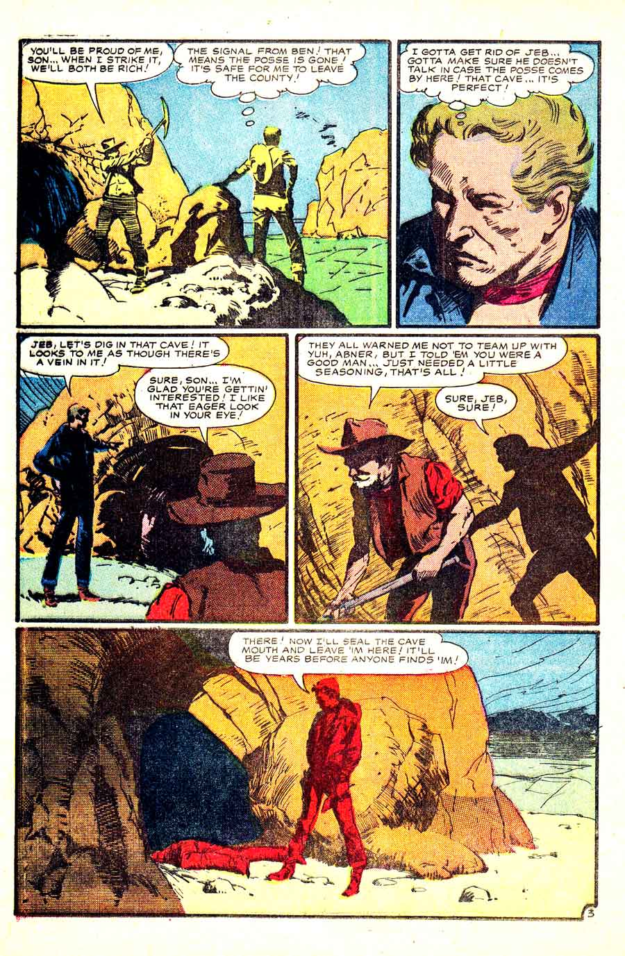 Al Williamson golden age 1950s atlas western comic book page for Kid Colt Outlaw #59