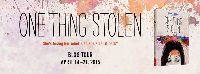 ONE THING STOLEN Blog Tour facilitated by Chronicle Books