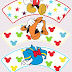 Mickey and Friends: Free Printable Cupcake Toppers and Wrappers.