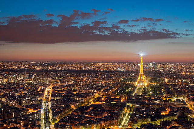 Widok z wieży Montparnasse