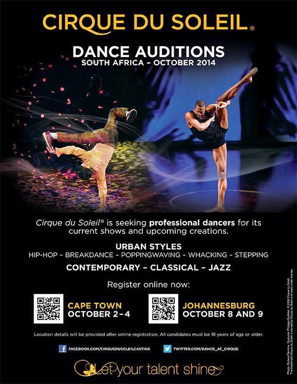 Umhlanga Life Cirque Du Soleil Dance Auditions In Cape