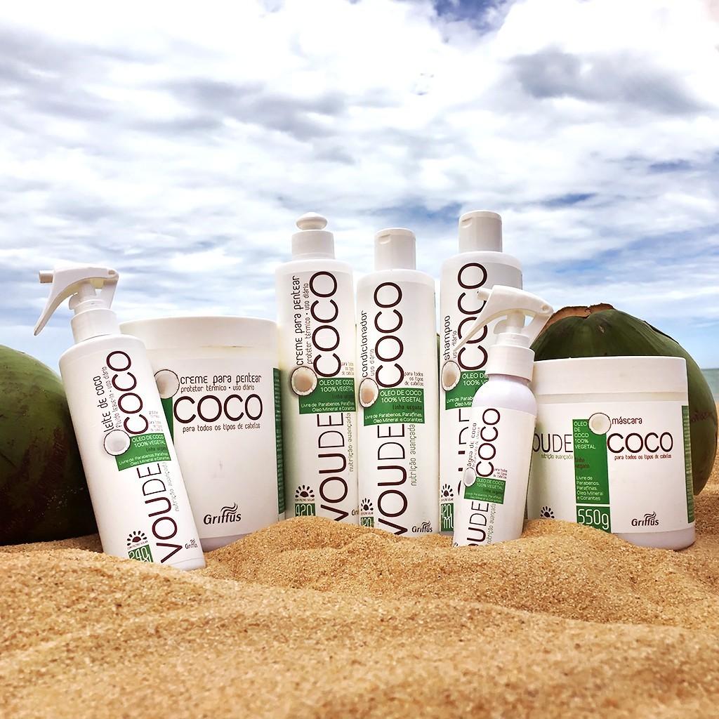 Linha Vegana Vou de Coco da Griffus Cosméticos com óleo 100% vegetal