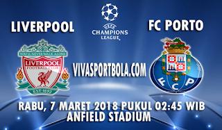 Prediksi Liverpool vs Fc Porto 7 Maret 2018