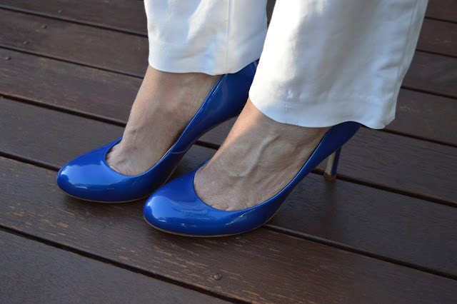 Sydney Fashion Hunter The Wednesday Pants #47 - Azure Ombre - Ivanka Trump Pumps
