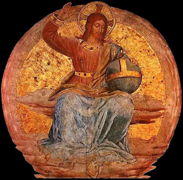 Cristo em Majestade no Juízo Final. Fra Angelico, (1395 - 1455). Catedral de Orvieto, Itália