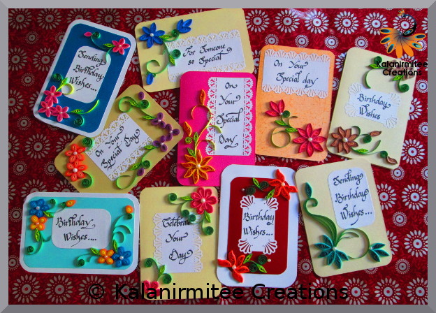 kalanirmitee: paper quilling-quilling-quilling ideas- quilling projects-quilled flowers-quilled cards- birthday cards
