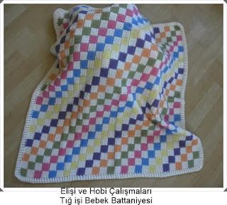 Örgü Bebek Battaniyeleri - Tığ işi Örgü Modelleri  1