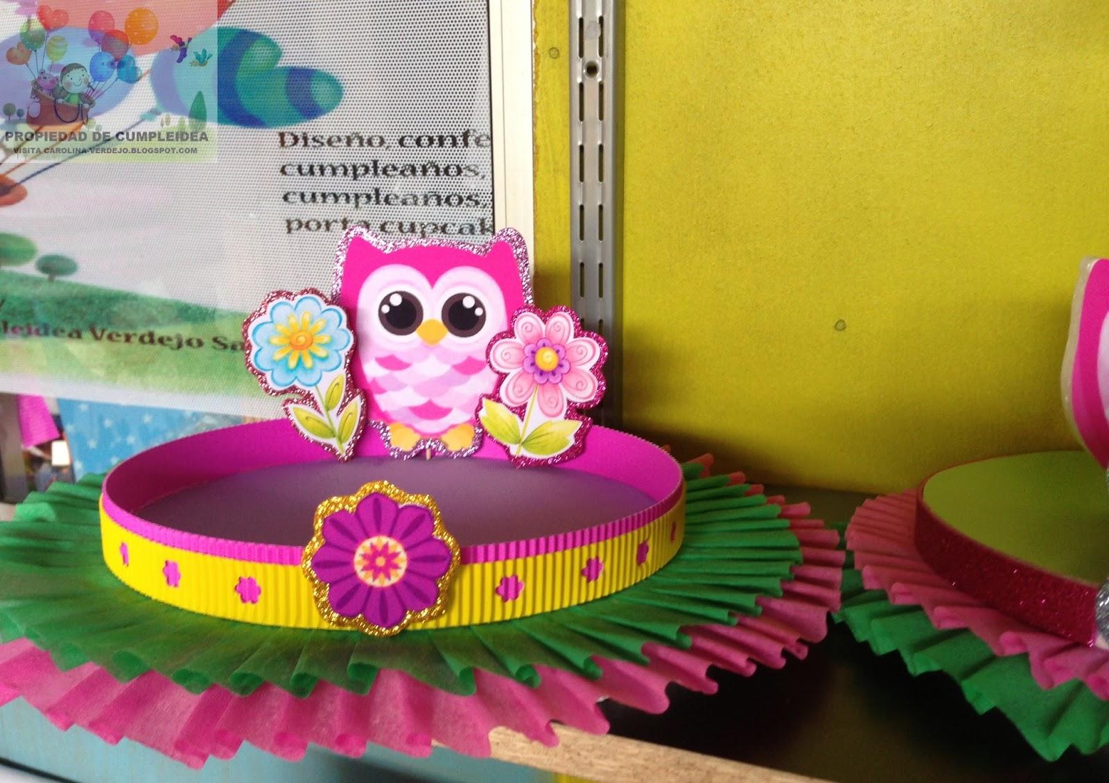 Decoraciones infantiles tematica de lechuzas - Decoracion goma eva infantil ...