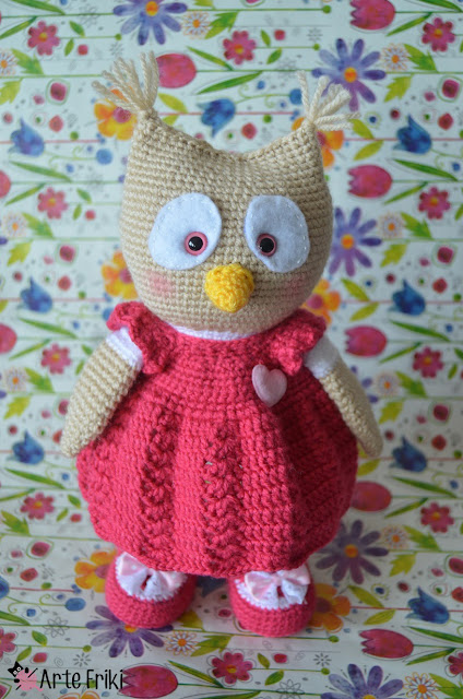 buho amigurumi owl crochet ganchillo kawaii diy doll handmade peluche plushie arte friki