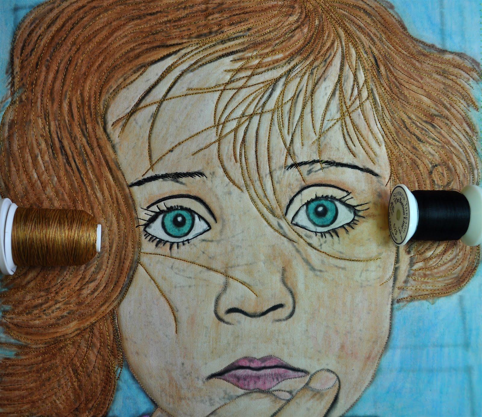 LuAnn Kessi: Portrait Quilt........Completed : portrait quilts - Adamdwight.com