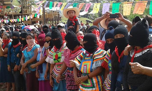 Valla de bases zapatistas que recibieron  a Marichuy en Guadalupe Tepeyac