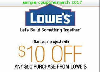 free Lowes Home Improvement coupons march 2017