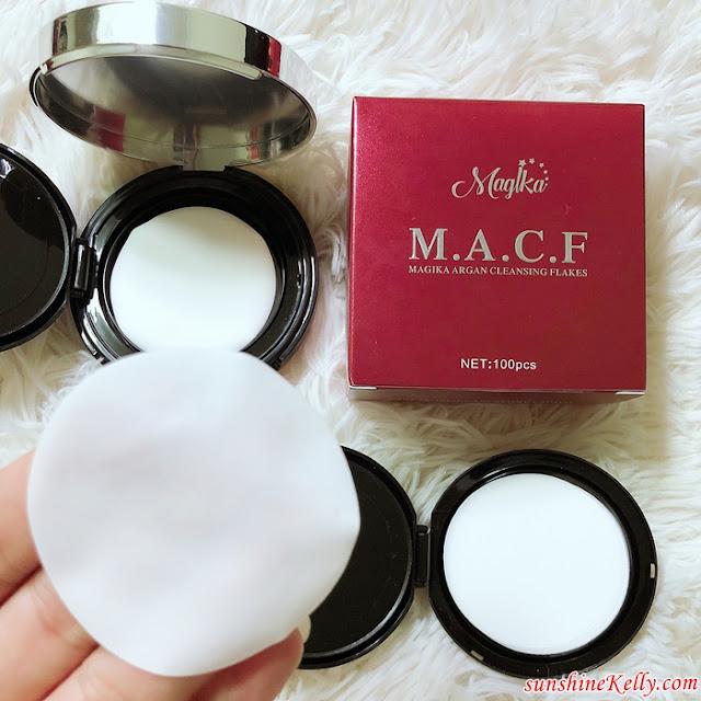 MACF, Magika Argan Cleansing Flakes, 1st Paper Facial Cleanser in Malaysia, Magika Malaysia, Paper Cleanser, Izreen Azminda, Duta Magika, Nur Azura Baharudin, Pengasas Magika, Stokis Magika