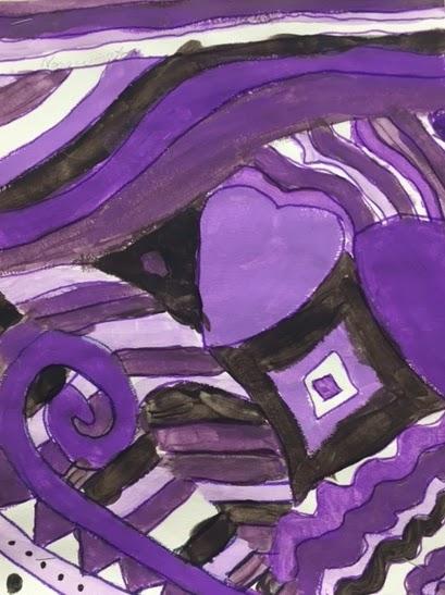 Mrs Nhu S Oakdale Art Class Monochromatic Abstract