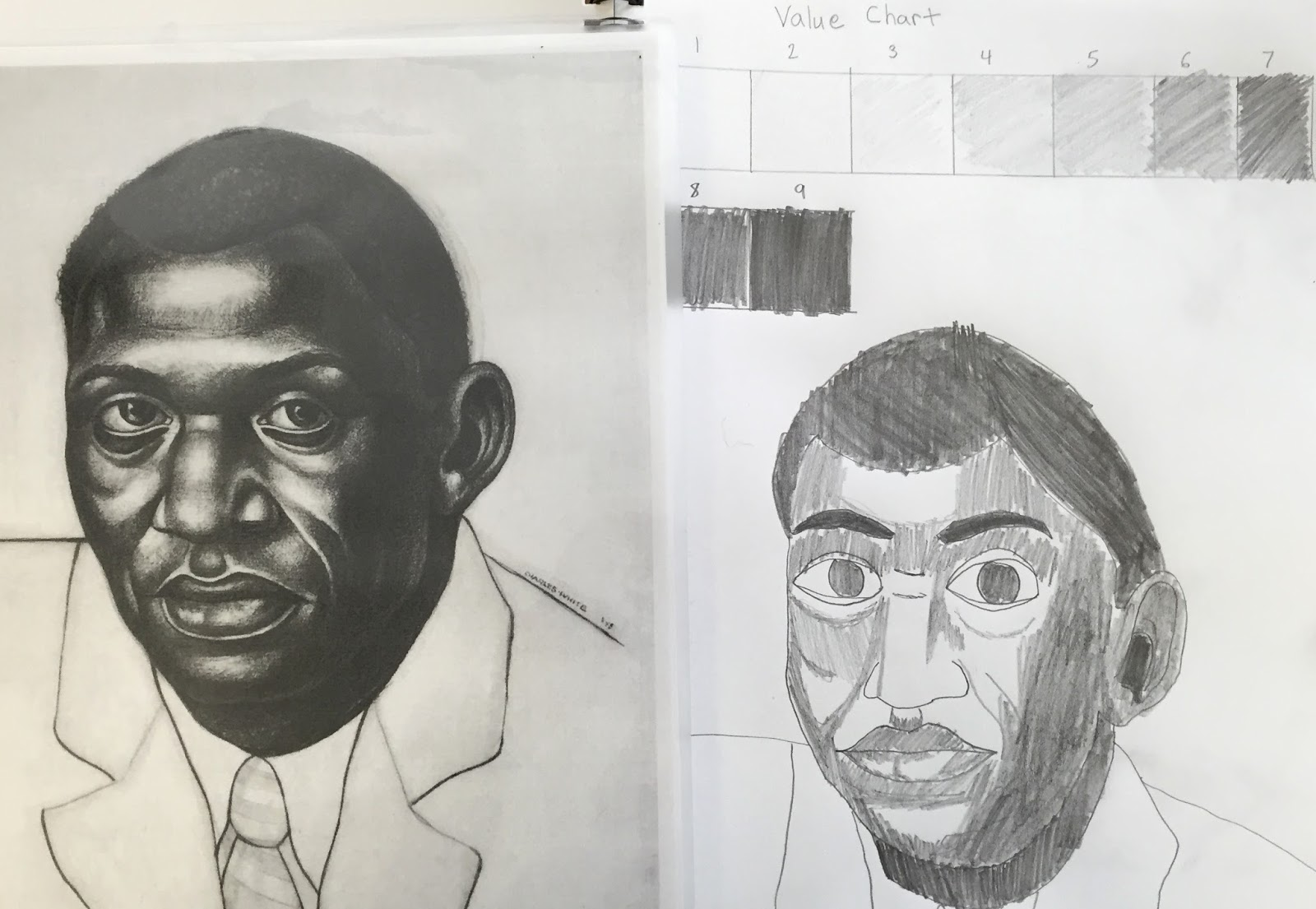 This week in art class students began learning about value we looked at two artists charles white and kathe kollwitz whose charcoal drawings prints also sketchbook ps brooklyn news rh ps brooklynartnewsspot