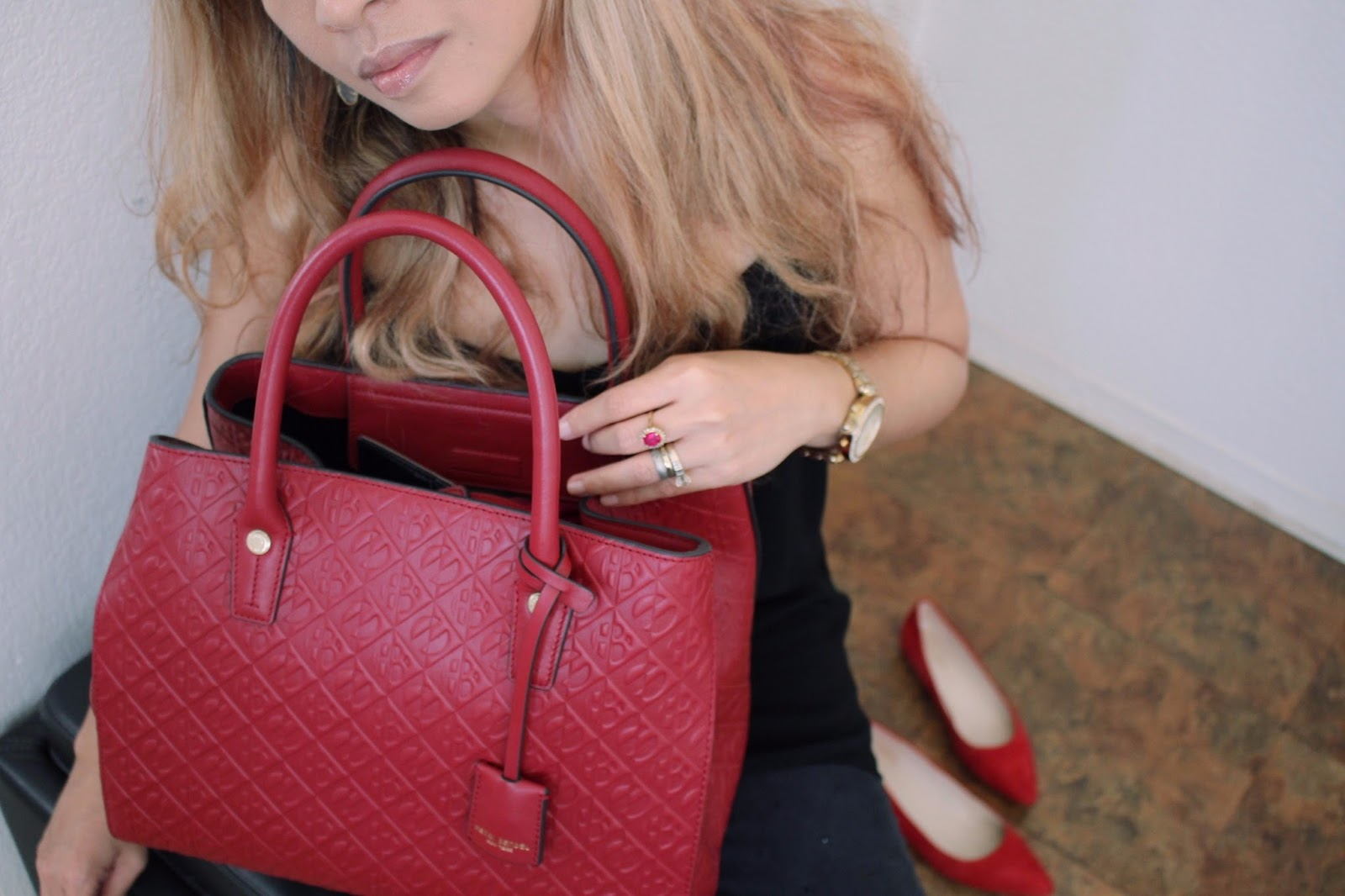 How To Introduce Red To Your Black Wardrobe, Henri Bendel Empire Tote