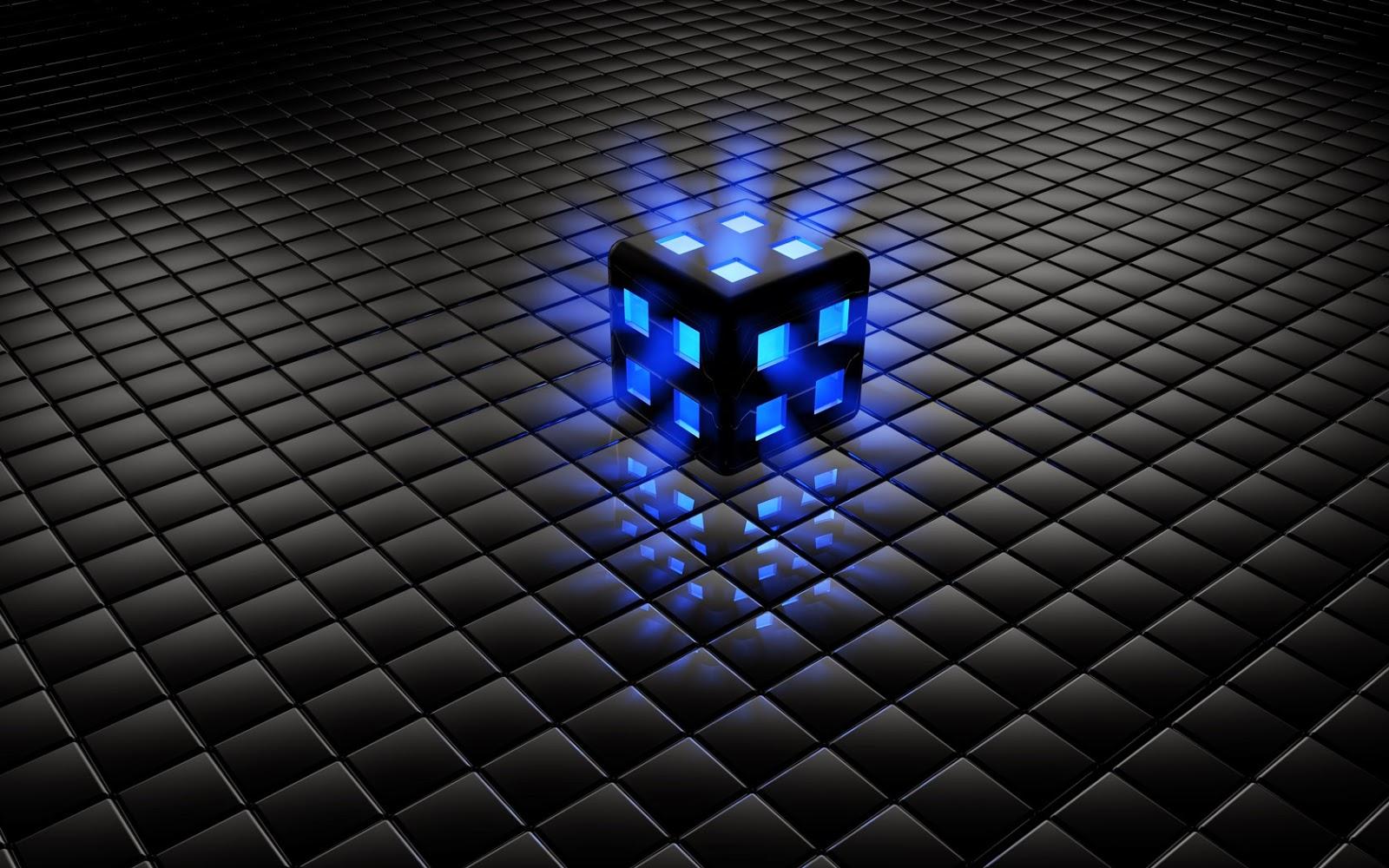 Fondo De Pantalla Abstracto Bolas Azules: Imagenes Hilandy: Fondo De Pantalla Abstracto Cubo Azul