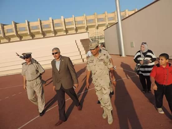 مدير أمن الغربية يحضر مبارة كرة القدم (خماسى) بين فريق الشرطة والجيش وفريق قدامى طنطا الغربية