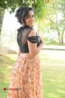 Actress Chetana Uttej Stills in Floral Long Skirt at Pichiga Nachav Movie Press Meet  0025.JPG