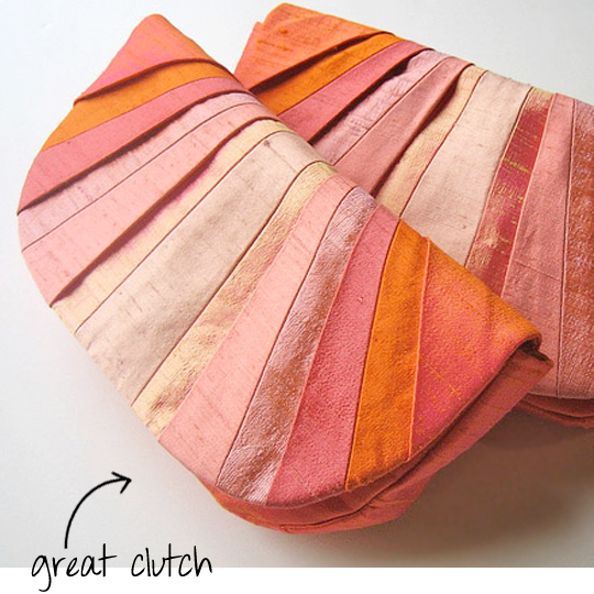 silk dupioni clutch