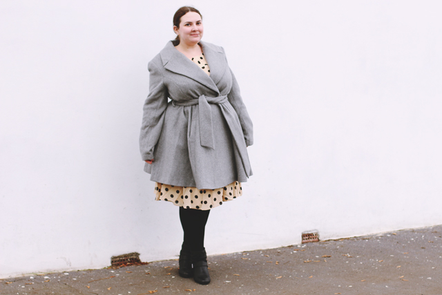 Plus size winter work office outfit