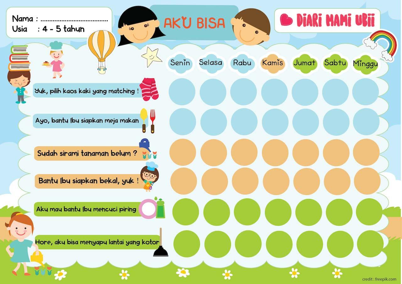 Worksheets Worksheet-anak-2-tahun freebies pekerjaan rumah untuk anak gracemelia com parenting dan orangtua bisa mengacu pada worksheet ini menanamkan kebiasaan melakukan ada juga stiker nya