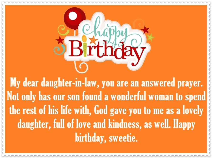 Daughter In Law Happy Birthday Quotes And Greetings Happy Birthday