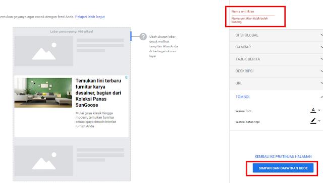 Cara Memasang Iklan In-Feed Ads Google AdSense