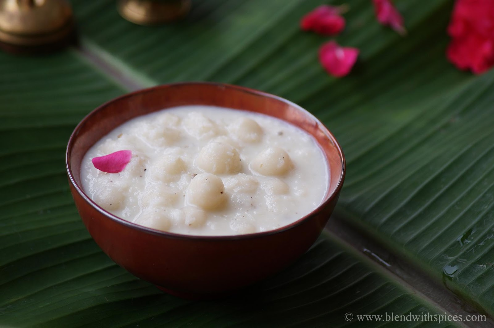 how to make undralla payasam with rice flour, step by step recipe with video, vinayaka chavithi prasadam
