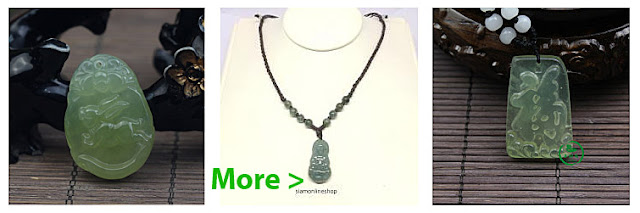 Green Ice Jade Pendant Necklace Translucent
