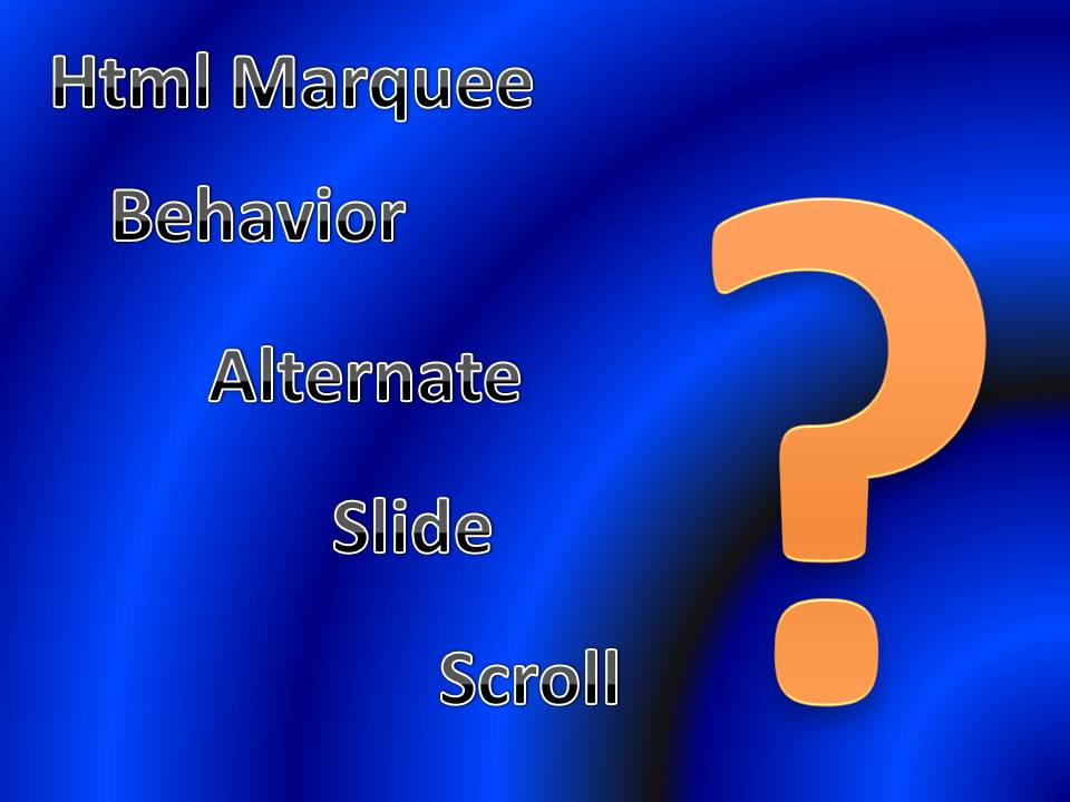 Guideinfoyou: Html Marquee Behavior