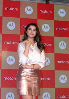 Parineeti Chopra Stills in Golden Mini Skirt at Motorola Moto M Launch  0009.jpg