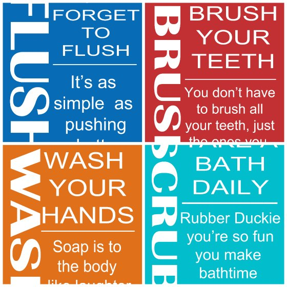 4 Kids Bathroom Rules Printables Second Chance To Dream