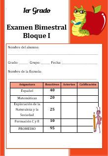 Examen Primer grado Bloque 1 2016-2017