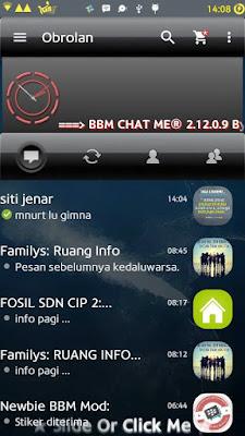 BBM MOD Chat Me Tema Black Elegant APK V2 2.12.0.9