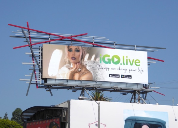 I Go Live app billboard