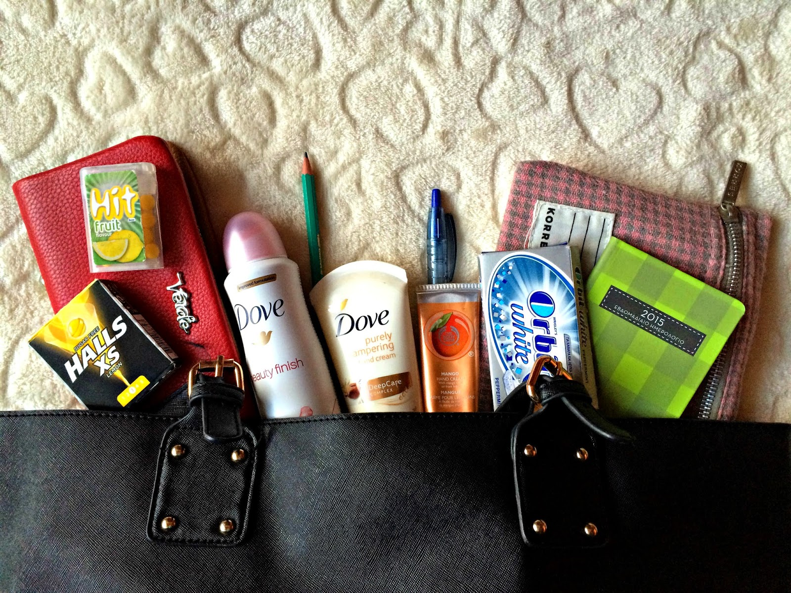 whats in my bag bubblybeauty