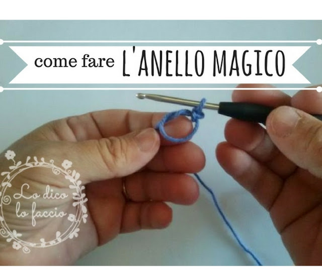 Come fare l'anello magico con l'uncinetto [tutorial]