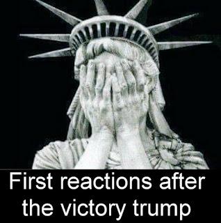 statue liberty, FacePalm, Donald Trump,