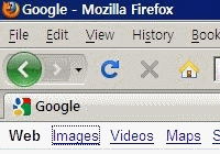 gray dotted focus of Firefox