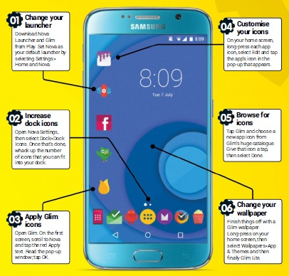 Android Magazines Customise Your App Icons Samsung