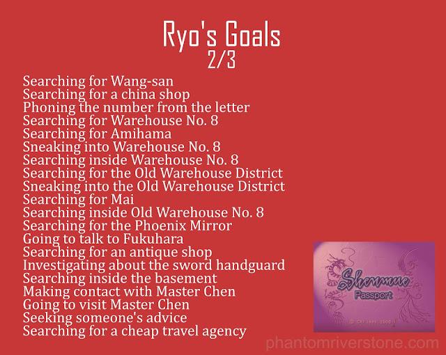 Ryo's Goals: 2/3