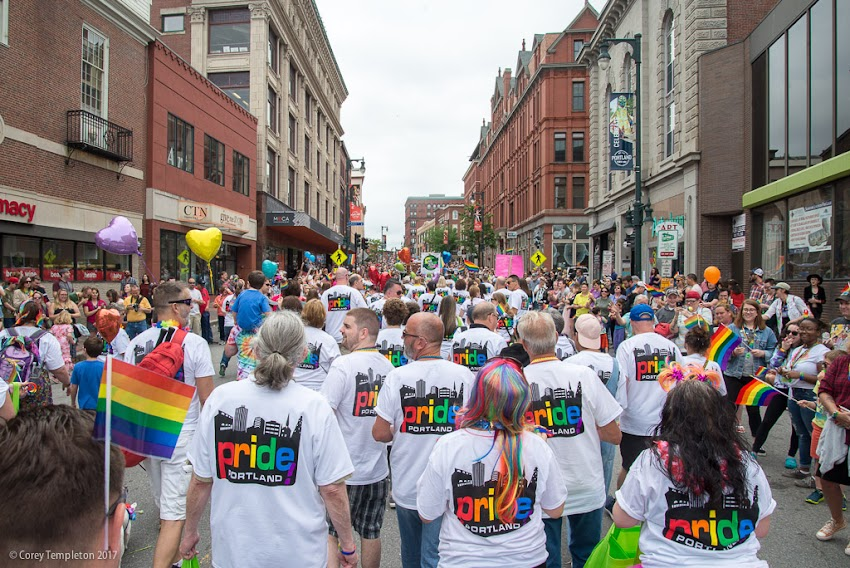 Portland, Maine USA June 2017 photo by Corey Templeton. A few photos from yesterday's big Pride Portland parade which runs from Monument Square all the way down to a festival in Deering Oaks Park.