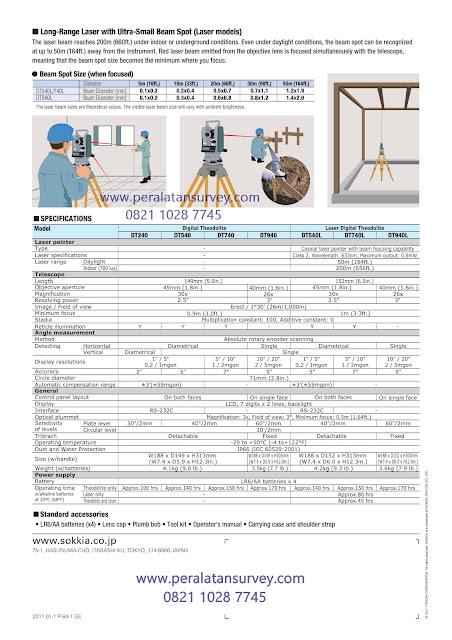 SOKKIA DT 540 || 740 || 940 Theodolite Laser Acurasi 5 detik