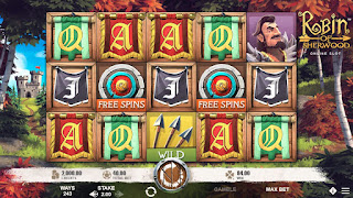 Robin of Sherwood online slot game main screen