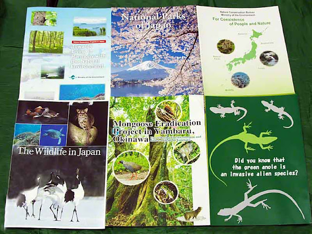 brochures from wildlife and conservation center, nature