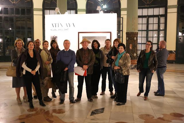 Amigos de Turismo Virtual por Andalucía en el Gran Salón del Casino de la Exposición de Sevilla